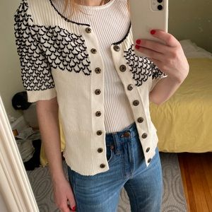 Anthropologie Cropped Knit Cardigan